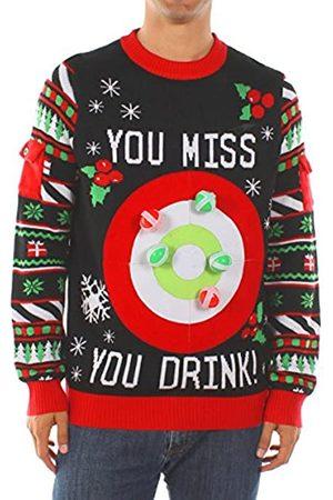 Tipsy Elves Tipsy Elves Herren Trinkspiel Ugly Christmas Sweater - Lustiger Weihnachtspullover - - Groß