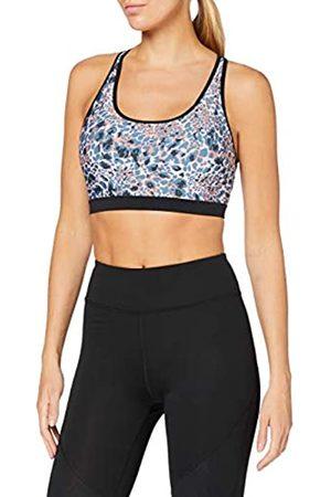 AURIQUE Damen Sport BHs - Amazon-Marke: Damen Sport BH für leichten Halt, Mehrfarbig (Coral Animal Print), S