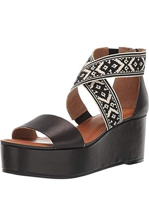 Lucky Brand Lucky Brand Women's GWINDOLIN Espadrille Wedge Sandal, Black/Natura