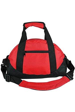 iEquip IEquip Seesack, Turnbeutel, robuste Reisetasche, zweifarbig, Sporttasche (rot – klein (35,6 x 21,6 x 21