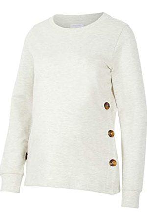 Mama Licious Damen Strickpullover - Women's MLSERINE L/S Jersey TOP 2F A. Sweater, Light Grey Mix