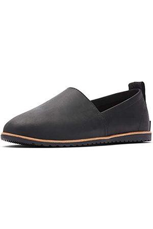 sorel Women's Ella Slip-On, Leather or Suede Shoe, Black