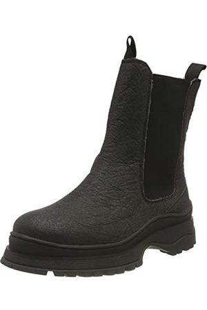 SELECTED Damen SLFLUCY Textile Chelsea Boot B Stiefel, Black