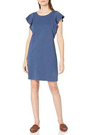 Goodthreads Damen Freizeitkleider - Schwerem Baumwollstoff mit Rüschenärmeln Kleid