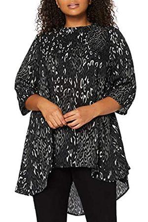Mela Mela Damen London-Animal Printed HIGH Low Tunic TOP Tunika-Shirt