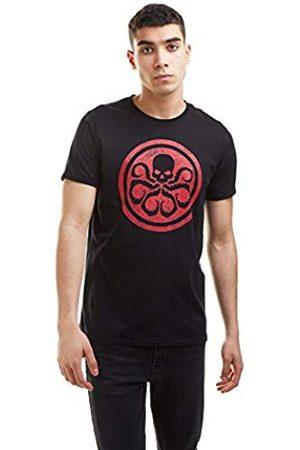 Marvel Herren Shirts - Herren Hydra Logo T-Shirt, Black