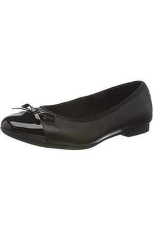 Clarks Mädchen Scala Bloom K Geschlossene Ballerinas, (Black Leather Black Leather)
