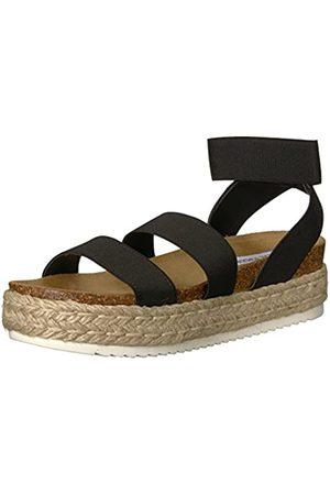 Steve Madden Women's Kimmie Wedge Sandal, Black