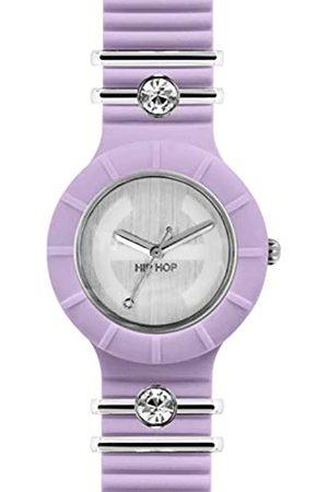 Hip Armbanduhr HIP HOP Frau TRES CHIC! quadrante Silber e uhrarmband in silikon, Glam rosa