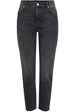 Pieces PIECES Female High Rise Jeans Straight MBlack Denim