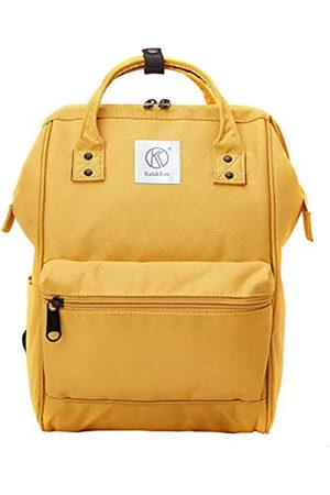 Kah&Kee Kah & Kee Polyester Laptop Rucksack Wasserdicht Anti diebstahl Wickeltasche Universität Damen Herren (Gelb