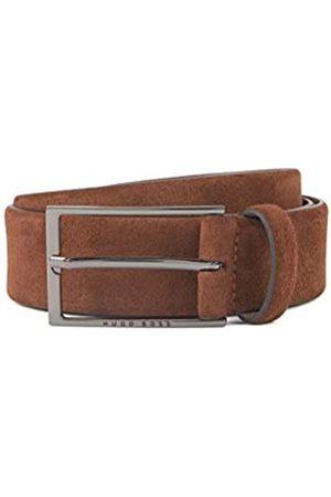 HUGO BOSS Herren Gürtel - Herren Calindo Sz35 Gürtel aus Veloursleder mit Schließe aus poliertem Metall