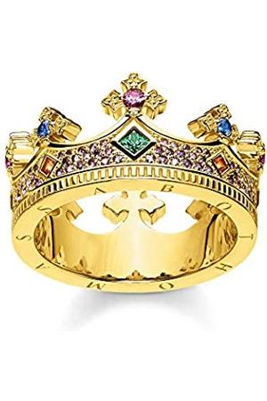 Thomas Sabo Thomas Sabo Damen-Ring Krone Gold 925 Sterlingsilber gelbgold vergoldet TR2265-973-7-48