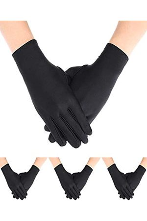 Sumind 4 Paar Erwachsene Uniform Handschuhe Spandex Handschuhe Kleid Handschuh für Polizei Formal Tuxedo Guard Parade Kostüm