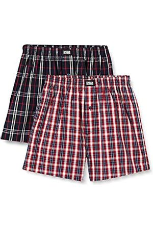 Urban classics Urban Classics Herren Unterhosen Woven Plaid Boxer Shorts 2-Pack Unterwäsche