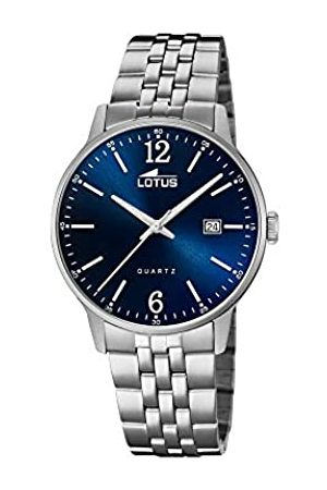 Lotus Herren Analog Quarz Uhr mit Edelstahl Armband 18694/3