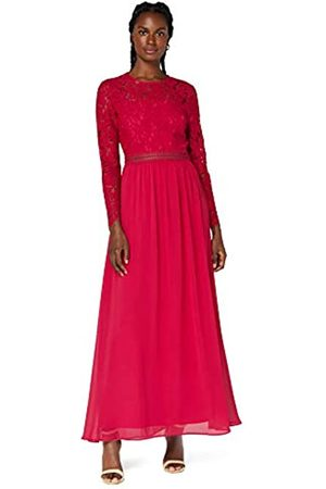 TRUTH & FABLE Amazon-Marke: Damen Maxi A-Linien-Kleid aus Spitze, 40