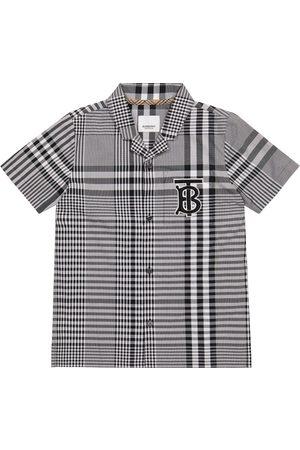 Burberry Kids Hemd aus Baumwoll-Popeline