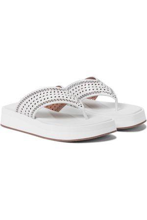 Alaïa Damen Sandalen - Sandalen aus Leder