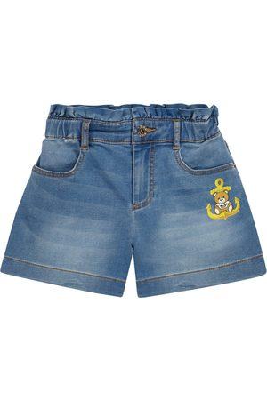 Moschino Kids Bestickte Jeansshorts