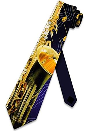 Three Rooker Krawatte, Saxophon und Musiknoten