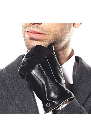 ELMA ELMA Winter-Lederhandschuhe für Herren – Herren-Handschuhe aus Kaschmir/Fleece gefüttert, Handschuhe für Motorradfahren, Reiten