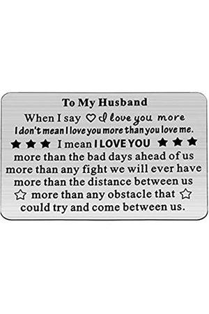 WSNANG WSNANG Geldbörse Karte Ehemann Geschenk für Ehemann Metall Geldbörse Liebe Note Einlage Hochzeit Jahrestag Valentinstag Geschenke für Männer Silber
