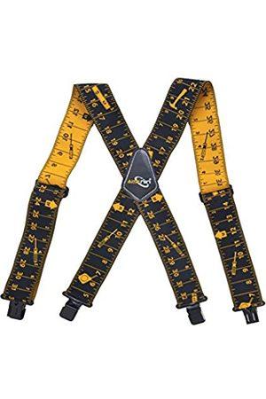 AISENIN Herren-Hosenträger mit Maßband, 5,1 cm breit, verstellbar, für Werkzeuggürtel, elastische Hosenträger mit robusten