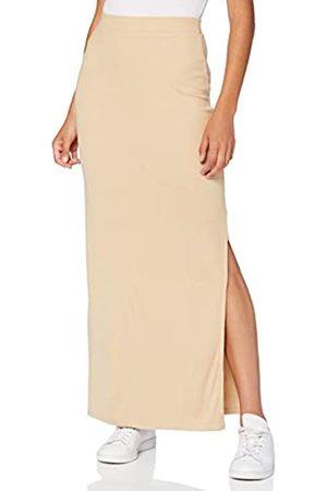 MERAKI Amazon-Marke: Damen Slim Fit Maxi-Rock mit Feinripp, Beige (Light Tanne), 46