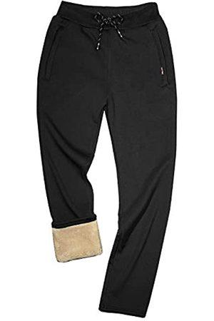 Gihuo Herren Winter Warm Fleece Pants Sherpa Gefüttert Jogger Bequem Sweatpants - - Groß