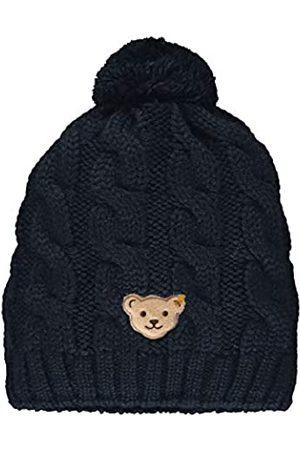 Steiff Jungen mit süßer Teddybärapplikation Mütze, Navy