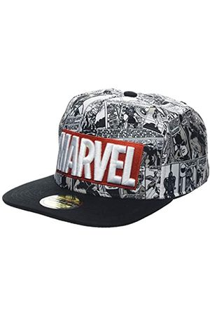 Difuzed Unisex Marvel Comics Logo and Comic Pattern Snapback Baseball Cap