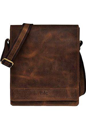 handolederco. Leder Messenger Satchel Laptop Tasche für Herren und Damen Leder Satchel Laptop Messenger Unisex Ipad Mini Laptop Tasche