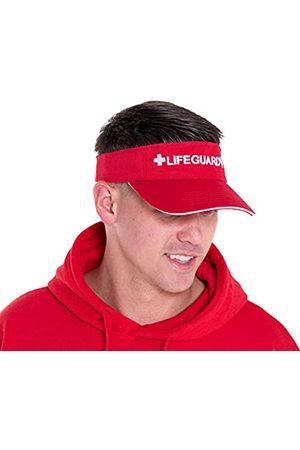 LIFEGUARD LIFEGUARD Offiziell lizenziertes Visier – Fühlen Sie sich wohl – Mütze für Damen und Herren – Die Materialien – Einheitsgröße - Rot - Einheitsgröße
