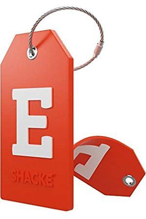 Shacke Initiale Gepäckanhänger mit Vollsichtschutz unddelstahlschlaufe - Buchstabe