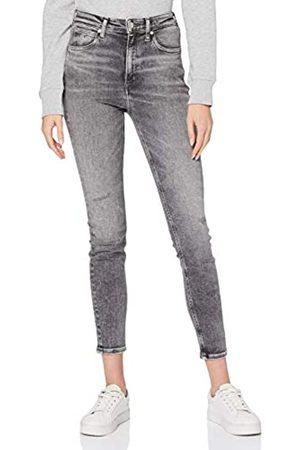 Calvin Klein Calvin Klein Jeans Damen Ckj 010 High Rise Skinny Ankle Hose, Bb113-Grey Embro Hem