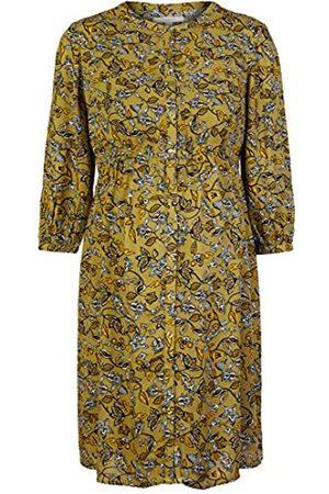 Esprit Damen Kleider - Damen Dress WVN nurs 3/4 sl AOP Kleid, Khaki Green-350