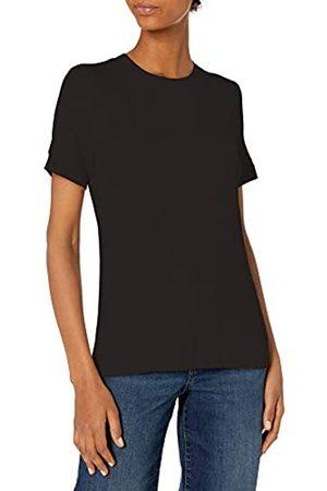 Daily Ritual Rayon Spandex Fine Rib Crew Neck Short-Sleeve Band Shirts