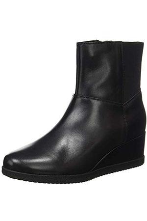 Geox Geox Damen D ANYLLA Wedge H Ankle Boot, Black