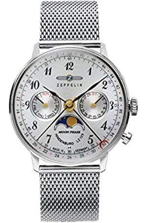 Zeppelin Zeppelin Unisex Chronograph Quarz Uhr mit Edelstahl Armband 7037M-1