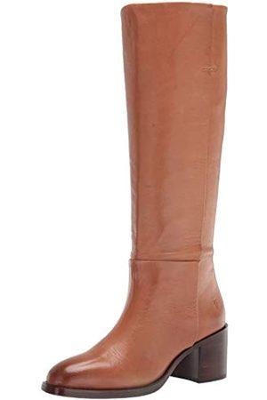 Frye Monroe Damen Stiefel zum Überziehen, kniehoch, (cognac)