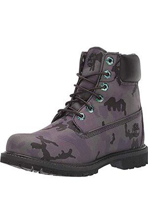 Timberland Womens 6In Premium Fabric Boot, Black Camo Iridescent