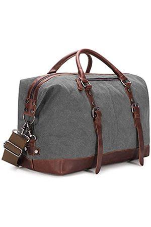 Baosha BAOSHA Reisetasche aus Segeltuch und PU-Leder (Weiß) - BSHBC14