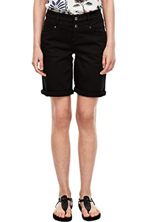 s.Oliver S.Oliver Damen Regular Fit: Bermuda aus Baumwollstretch black stretched de 32