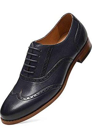 ALIPASINM Alipasinm Damen Oxfords Lace Up Wingtip Brogue Flats Sattelkleid formelle Hochzeit Büro Schuhe für Mädchen Damen (blau)