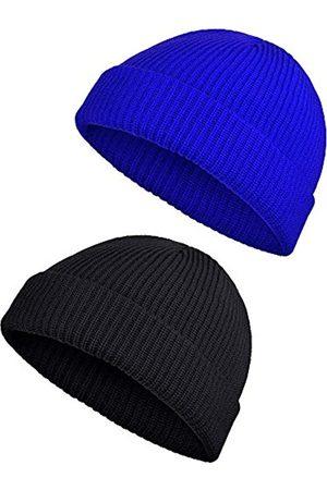 SATINIOR 2 Stücke Winter Warme Mütze Hut Strickmanschette Hüte für Männer Tägliches Tragen (