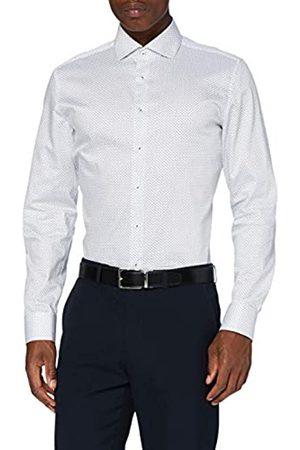 Seidensticker Herren Slim Langarm Print Twill Klassisches Hemd