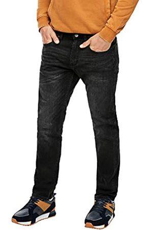 s.Oliver S.Oliver Herren Slim Fit: Stretchjeans mit Waschung black 36.30