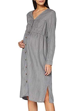 Esprit Damen Dress WVN ls Kleid, Grey Denim-920