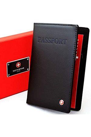 Sotania Sotania - Lederetui für Reisepass und Kreditkarten, RFID-blockierend